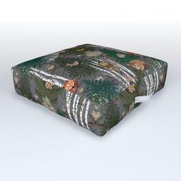 Sleepy Scandinavian Forest Outdoor Floor Cushion