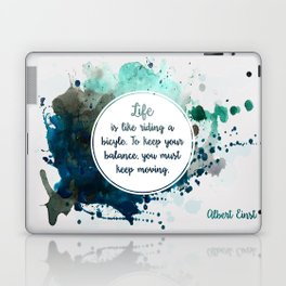 Albert Einstein's quote Laptop & iPad Skin