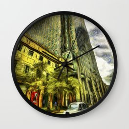 Canary Wharf London Art Wall Clock