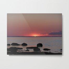 Last Sliver of Sun Light Metal Print