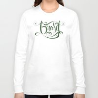 brasil Long Sleeve T-shirts featuring BRASIL by Roberlan Borges
