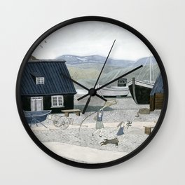 North Fishing Village Wall Clock