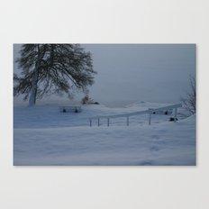 Frozen German Lake Canvas Print
