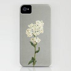 White Flowers Slim Case iPhone (4, 4s)
