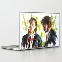 pulp fiction Laptop & iPad Skins featuring Pulp Fiction by Miquel Cazanya