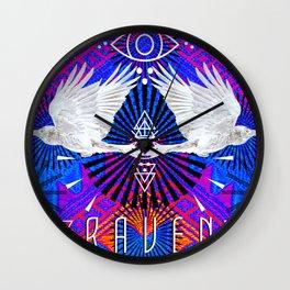 Raven Spirit-Sight Wall Clock