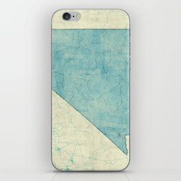 Nevada State Map Blue Vintage iPhone Skin