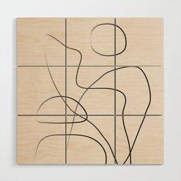 Abstract Line I Wood Wall Art