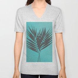 Palm Leaves #1 #Mint #decor #art #society6 Unisex V-Neck