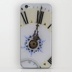 Portrait of an old watch face iPhone Skin