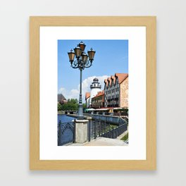 Place Fishing Village ethnographic Kaliningrad Framed Art Print
