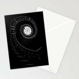 Spiral staircase in blck and white Stationery Cards