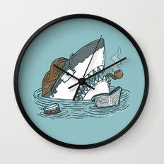 The Dad Shark Wall Clock
