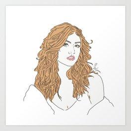 Clary Art Print