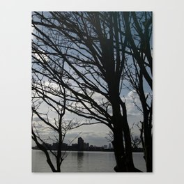 Trees along the River Thames, near Woolwich Canvas Print