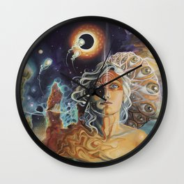 Kaleidoscope Eyes Wall Clock