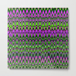 Making Waves Neon Lights Metal Print