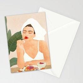 Strawberry Pancakes Stationery Cards