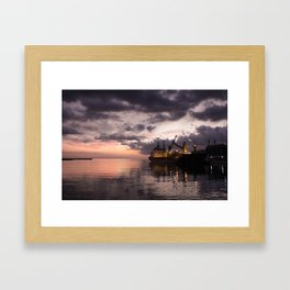 Heading out to sea Framed Art Print