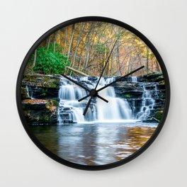 Fall Falls Wall Clock
