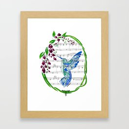 Carrier of Hope (Hummingbird and Wisteria) Framed Art Print