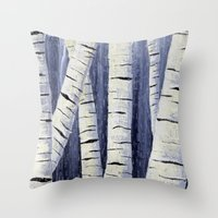 birch Throw Pillows featuring Birch by Sarah Yee