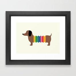 Rainbow Dooooog Framed Art Print