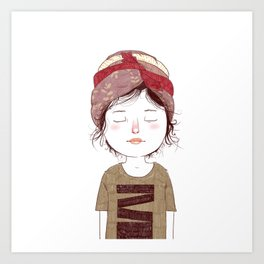 Turban 1/3 Art Print