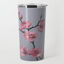 Flowering Pink Quince Travel Mug