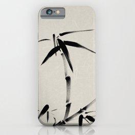 Bamboo Brush Ink Painting - Japanese Zen Art iPhone Case