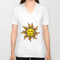 sublime V-neck T-shirts featuring Sublime Sun Psychedelic Character Design Logo by CAP Artwork & Design