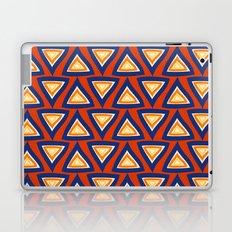 Blue Orange Triangles Laptop & iPad Skin