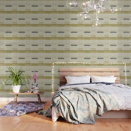 """Burlap Texture Natural Shades"" Wallpaper"