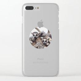 Lemur catta animals Clear iPhone Case