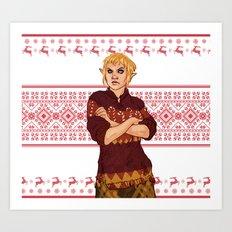 Very Merry Sera Art Print