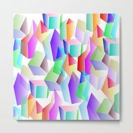 Crystals Metal Print