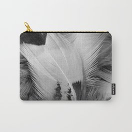 Monochrome Feathers Carry-All Pouch