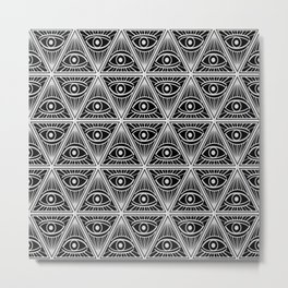 Third Eye Magic Geometric Pattern Metal Print