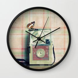 Vintage Camera Love: Pink Kodak Hawkeye Flashfun! Wall Clock