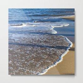 Hawaiian Beach: Gentle Waves on Powdered Sugar Sand Metal Print