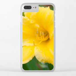 Yellow Daylily by Teresa Thompson Clear iPhone Case