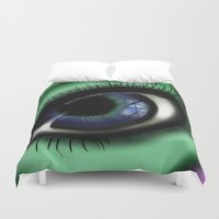 transformer Duvet Covers featuring Jaded by ShaylahLeigh