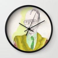 clown Wall Clocks featuring clown by Leah Thornton
