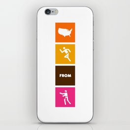 America Runs From Zombies iPhone Skin