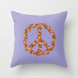 Unir (wisteria) Throw Pillow
