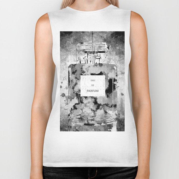 Perfume Black and White Biker Tank