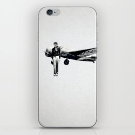 Amelia Earhart with her Airplane iPhone Skin