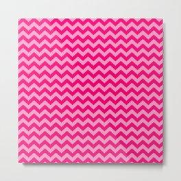 Pink Morroccan Moods Chevrons Metal Print