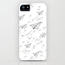 Paper Airplane 9 iPhone Case