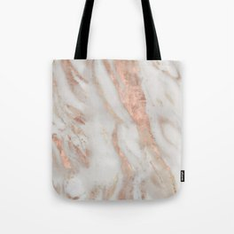 Civezza rose gold marble quartz Tote Bag